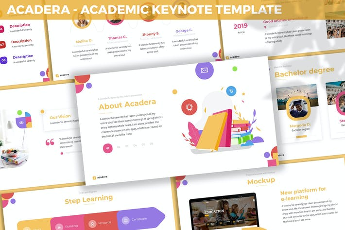 Thumbnail for Acadera - Academic Keynote Template