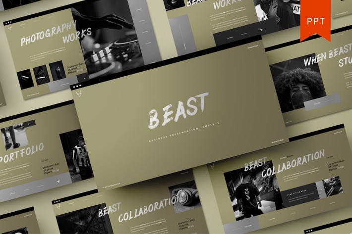 Thumbnail for Beast - Business PowerPoint Template