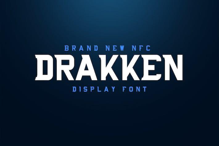 Thumbnail for DRAKKEN EXCLUSIVE DISPLAY FONT