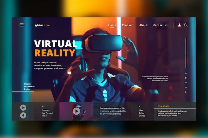 Thumbnail for En-tête Web Virtual Life PSD/XD