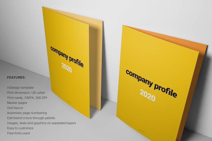 Thumbnail for Yellow Brochure Layout