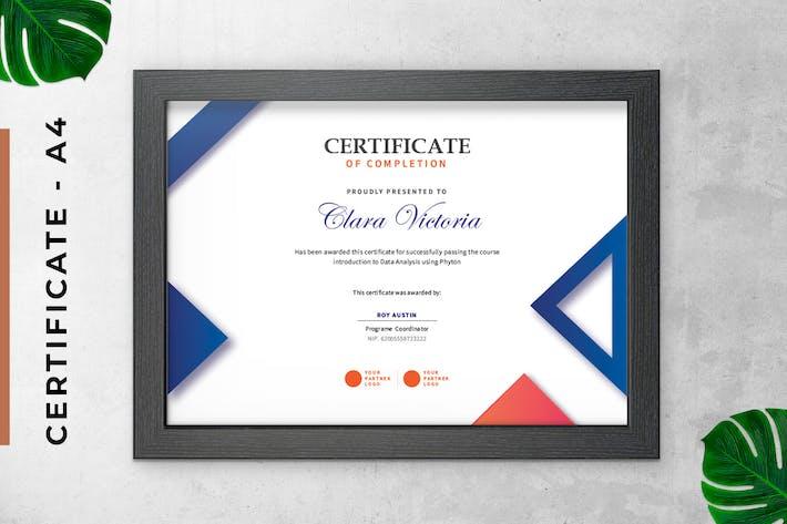 Thumbnail for Modèle Simple Triangle de Certificat/Diplôme