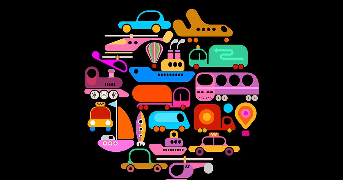 Download Transportation round shape vector design by danjazzia