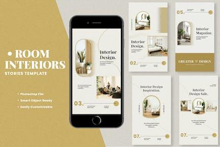 Room Interiors Instagram Stories Template
