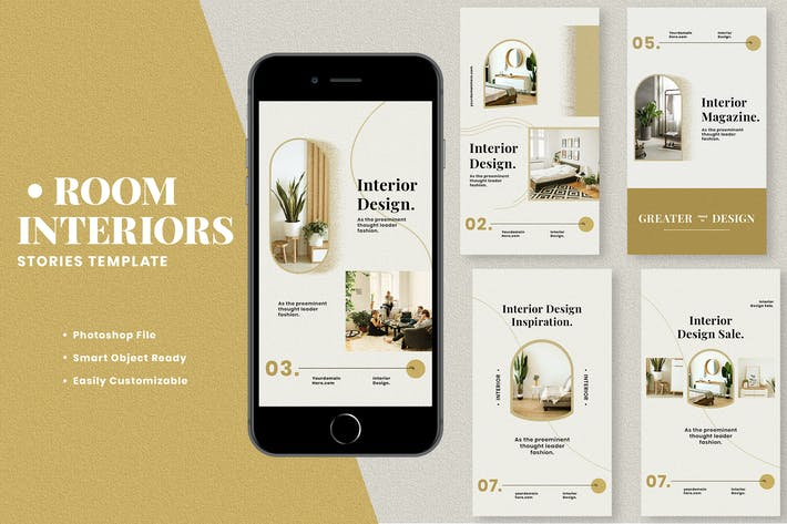 Thumbnail for Room Interiors Instagram Stories Template