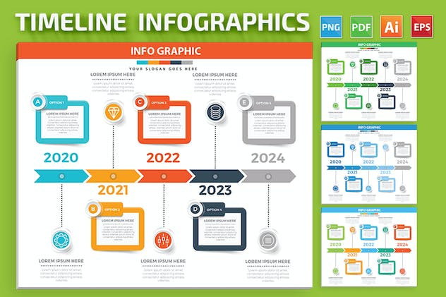 Timeline Infographics design - product preview 3