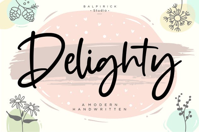 Delighty YH - Modern Handwritten Font - product preview 6