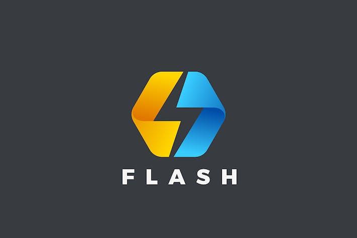 Thumbnail for Energy Power Flash Logo Hexagon Shape