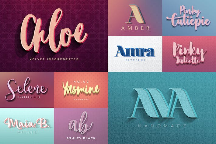 Thumbnail for Feminine Colorful Text Effects