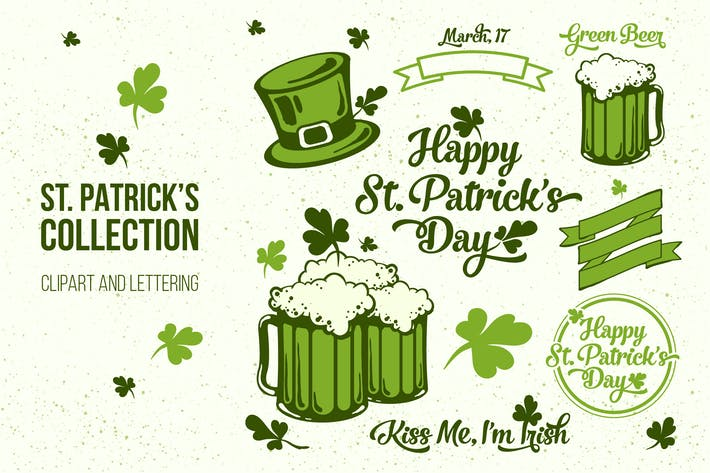 Thumbnail for St. Patrick's Day Clipart and Lettering Collection