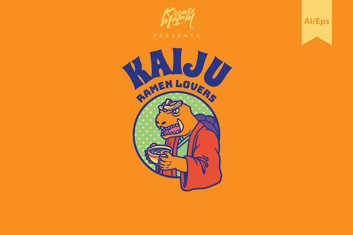 Thumbnail for Kaiju Ramen Logo Template