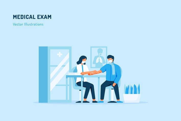 Thumbnail for Medical Examination Vector Illustration