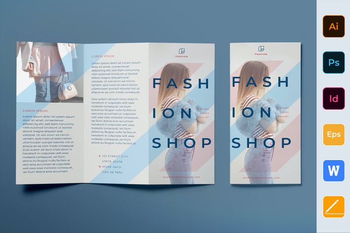 Thumbnail for Fashion Shop Brochure Trifold