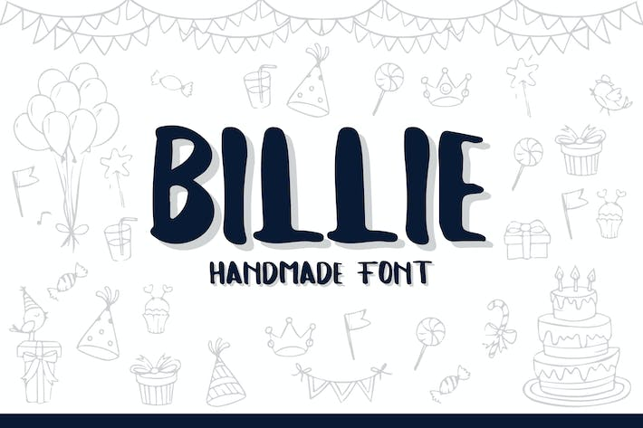 Thumbnail for Billie Typeface - Handmade Font