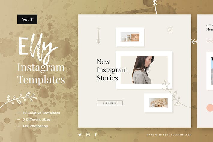 Thumbnail for Elly Instagram Templates Vol.3