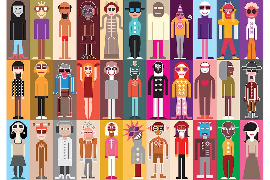 Large collection of funny people avatars