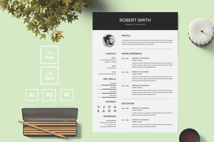 Thumbnail for Resume Template 12