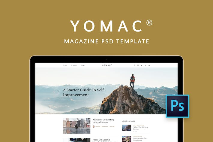Thumbnail for Yomac — Magazine and Blog PSD Template