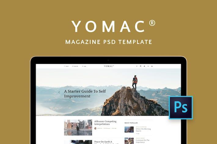 Yomac — Magazine and Blog PSD Template