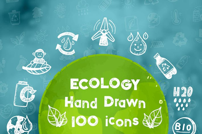 Thumbnail for Ecology Hand Drawn Icons