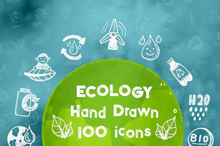 Thumbnail for Ecología iconos dibujados a Mano