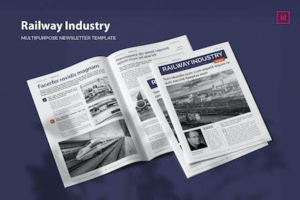 Railway Industry - Newsletter Template