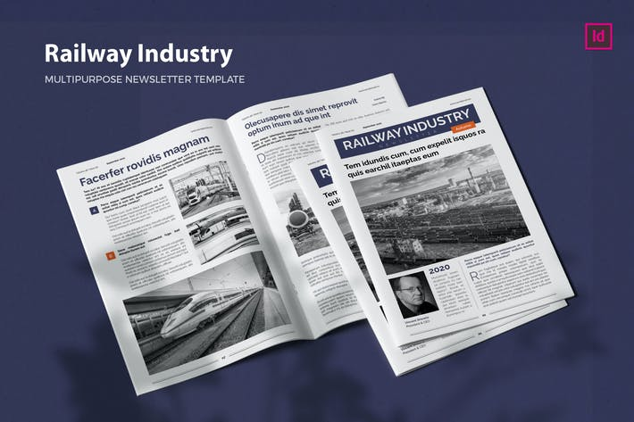 Thumbnail for Railway Industry - Newsletter Template