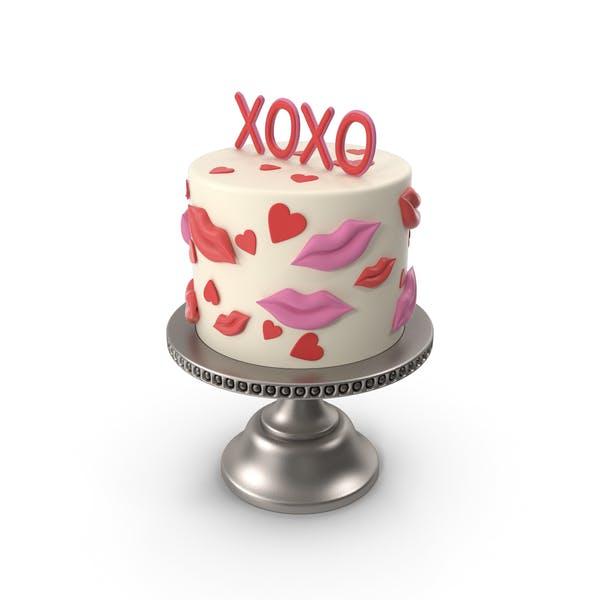 XOXO Valentine's Day Cake