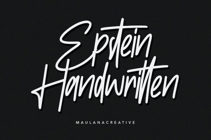 Thumbnail for Epstein Signature Handwritten Handmade Font