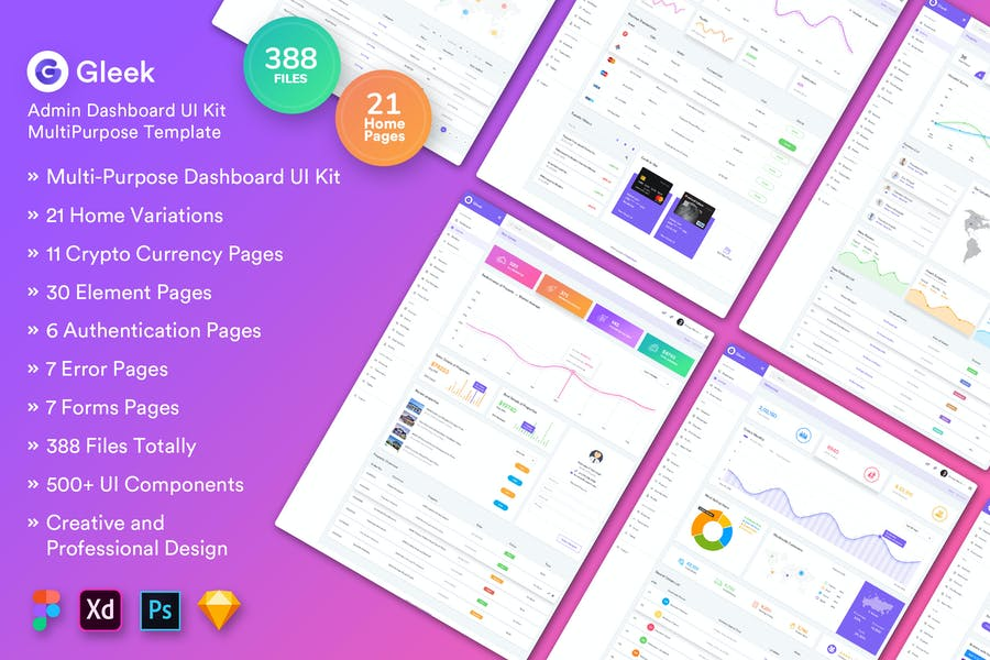 Gleek-Admin Dashboard Huge UI Kit MultiPurpose