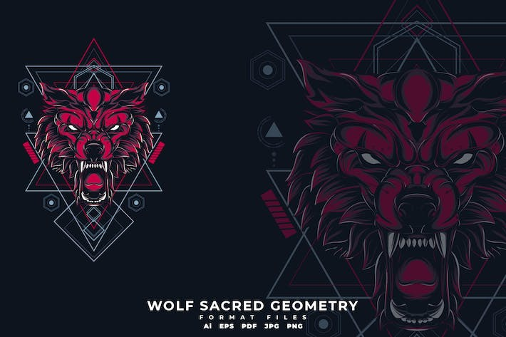 Thumbnail for Wolf sacred geometry