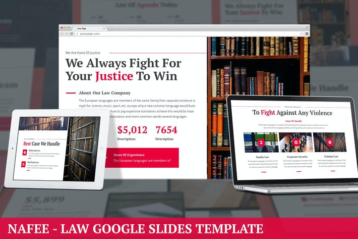 Thumbnail for Nafee - Law Google Slides Template
