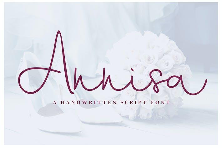 Thumbnail for Annisa Script Font