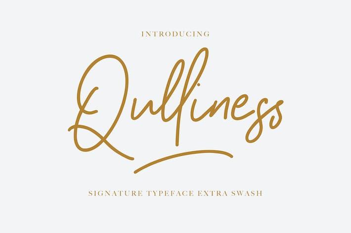 Thumbnail for Qulliness Signature Font