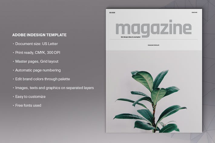 Thumbnail for Natural Magazine Template