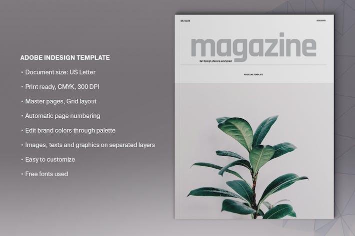 Natural Magazine Template