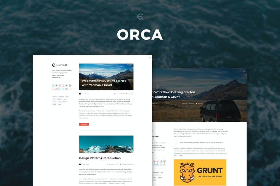 Download Orca - Responsive Ghost Theme by EckoThemes