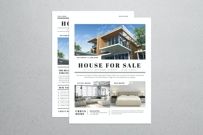 Thumbnail for Simple Newspaper Style Real Estate flyer