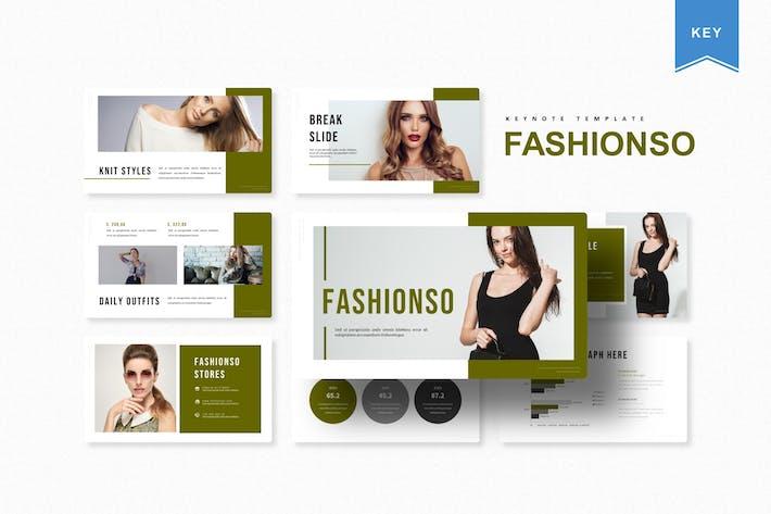 Thumbnail for Fashionso | Шаблон Keynote