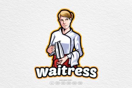 Waitress Restaurant Logo