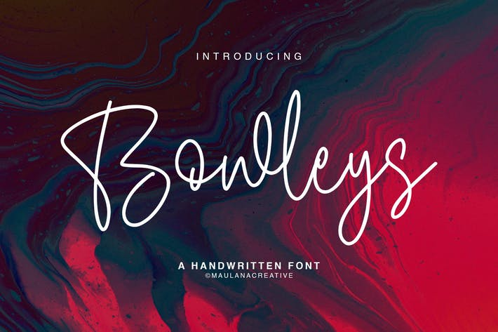 Cover Image For Bowleys Typeface