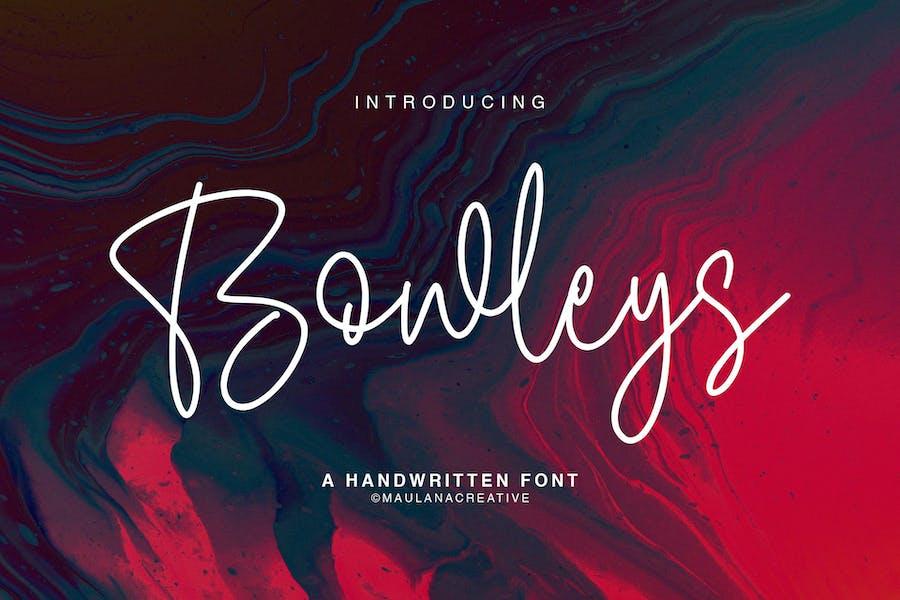 Bowleys Tipo de letra
