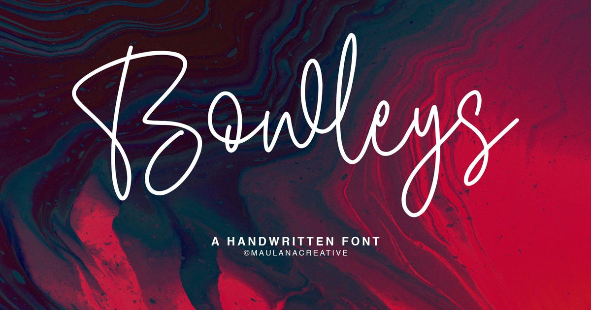 Download Bowleys Typeface by maulanacreative