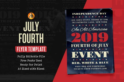 Independence Fourth of July Event - Flyer