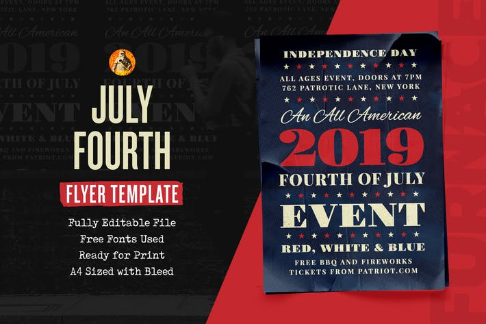 Thumbnail for Independence Fourth of July Event - Flyer
