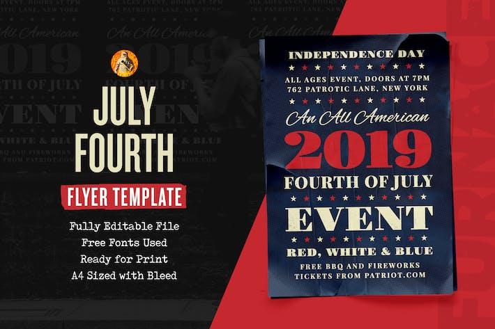Thumbnail for Evento de Independencia del Cuarto de Julio - Folleto