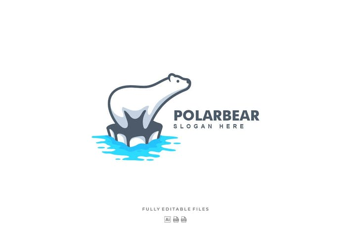 Thumbnail for Simple Modern Polar Bear Logo Template