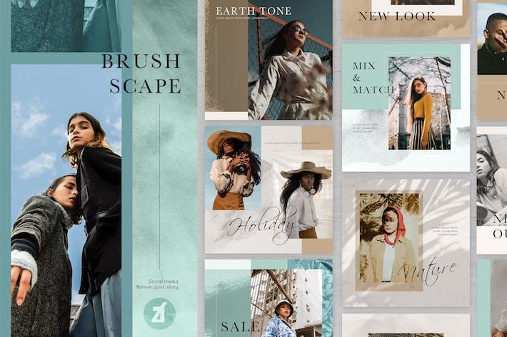 Thumbnail for Brush Scape Social-Media-Grafikvorlagen