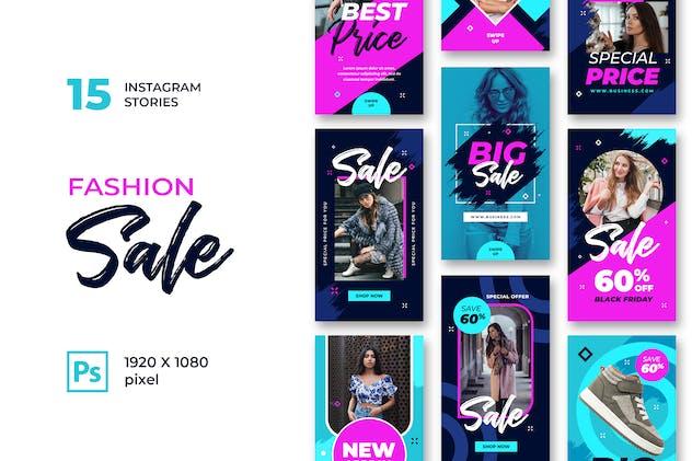 Instagram Stories Fashion Sale