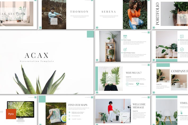Thumbnail for Acax - Plant Powerpoint Template